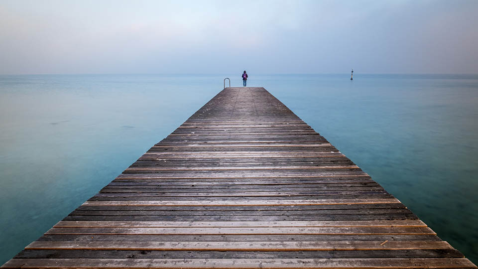 Girl at a lake